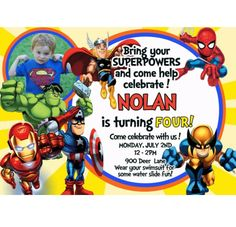 Super Hero Invites Superhero Birthday Invitations Free Printable Photo