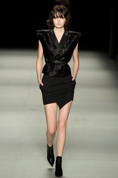 3 Looks: my #PFW picks from #Saint Laurent. Hedi Slimane continues his love affair with French ingenue/Hollywood rocker chic in the Spring collection.