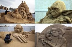 Every year, the British town of Weston-super-Mare hosts a sand-sculpting competition.