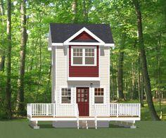 12x12 Tiny House -- #12X12H4 -- 282 sq ft