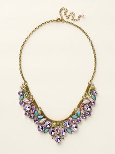 Floral Crystal Cluster Classic Necklace in Spring Rain by Sorrelli (http://www.sorrelli.com/products/NCY2AGSPR)