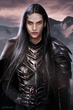 Fantasy & Fairy Tales - Maeglin of the House of the Mole by SaMo-art Fantasy Male, Fantasy World, Elves Fantasy, Tolkien, Character Portraits, Character Art, Male Elf, Glorfindel, The Mole