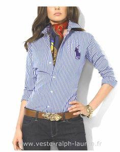 eaa76e4bccb Ralph Lauren chemise pour femmes mode 2012 rose Chemise Bleu Ralph Lauren