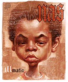 NAS, Illmatic, by Stephen Lorenzo Walkes by lorenzowalkes on DeviantArt Nas Hip Hop, Arte Hip Hop, Hip Hop Art, Hip Hop And R&b, Dope Cartoon Art, Dope Cartoons, Music Pics, Rap Music, Musik Illustration