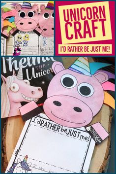 This unicorn craft is a perfect to celebrating being unique. Read the story Thelma the Unicorn and then write about why you'd rather be you.