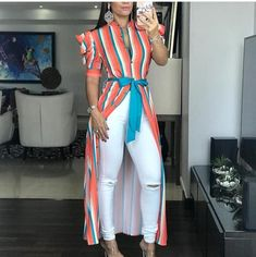 Casual Outfits, Fashion Outfits, Womens Fashion, Kurti With Jeans, Designs For Dresses, Kimono Jacket, Girls Jeans, My Wardrobe, African Fashion