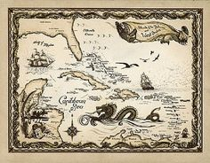 Cartography--maps with sea monsters and mythical creatures are especially welcome.