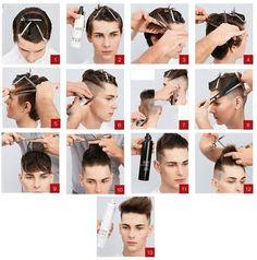 Men's Haircut Step by step Boys Long Hairstyles, Kids Braided Hairstyles, Haircuts For Long Hair, Undercut Hairstyles, Layered Haircuts, Cool Haircuts, Haircuts For Men, Haircut Men, Hair Cut Guide