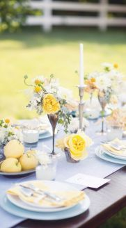 Yellow tablescape inspiration