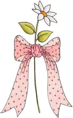 Pretty in pink - Veronica Vera - Picasa Web Albums Clip Art, Parchment Craft, Beautiful Drawings, Ribbon Bows, Ribbons, Cute Illustration, Rock Art, Doodle Art, Flower Art