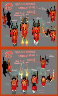 Team CACD - Damians - Draco Skull by crazyfoxmimi