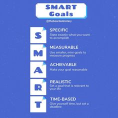 Your business' success relies on your ability to set and achieve goals Here are the 5 elements of a SMART business goal: * Specific * Measurable * Achievable * Realistic * Time-Based Business Goals, Business Tips, Mobile Notary, Time Based, 5 Elements, Notary Public, Achieving Goals, Life Goals, Integrity