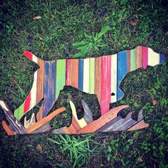 German Short Hair Pointing in Grass by RidleyStallingsArt on Etsy Picnic Blanket, Outdoor Blanket, Reclaimed Wood Art, German Shorthaired Pointer, Hunting Dogs, Ocean Life, Wall Sculptures, Your Dog, Grass