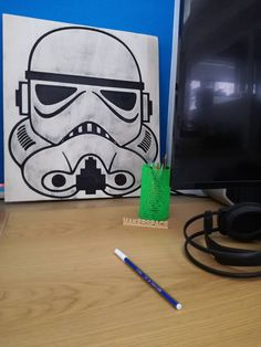 Stormtrooper portrait created with the CNC and hand painted by Constantinos Zervos. Cnc, Hand Painted, Portrait, Create, Handmade, Hand Made, Headshot Photography, Portrait Paintings, Drawings