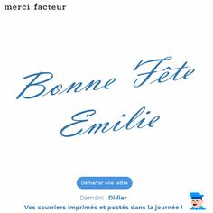 Bonne Fête Emile ! Envoyez lui une #carte #bonnefête #Fête #Emile #Didier #courrier #LaPoste #carte #lettre #Saint #printemps #famille #amis #Expat #Handicap #amitié #Paris #France #Conseil #service #bonplan #astuce #Rappel #Mai #MardiConseil
