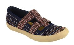 Cotswold Crompton Ladies T-Bar Slip On Fabric Casual Shoe - Robin Elt Shoes  http://www.robineltshoes.co.uk/store/search/brand/Cotswold-Ladies/ #Spring #Summer #SS14 #2014