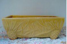 Vintage McCoy Pottery Yellow Pinecone Window Planter | eBay                                                                                                                                                      More