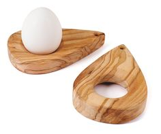 Hatching Hens Olive Wood Egg Cups designed by Karin Stromberg for House of Rym. Now at Northlight