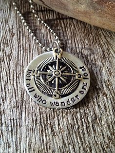 Not all who wander are lost  Personalized Hand by FarrarCreations, $32.00