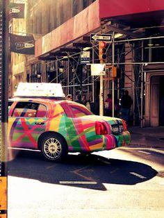 Multicolored NYC cab