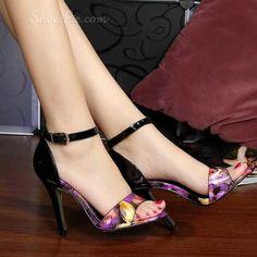 Shoespie Flower Pattern Dress Sandals