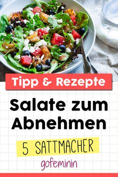 Diese 5 Salate helfen beim Abnehmen und machen auch noch lange satt These 5 salads help with weight loss and make you full for a long time Vegetarian Recipes Dinner, Healthy Dinner Recipes, Diet Recipes, Avocado Dessert, Healthy Meal Prep, Healthy Eating, Le Diner, Avocado Toast, Clean Eating