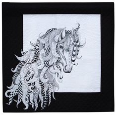 Horse by Judith Phelps.  Judge's Choice: 2013 Northwest Quilting Expo.