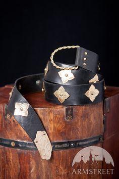 Mittelalter Gürtel Aus Schwarzem Leder