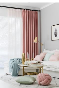 Pair of Velvet Rose Pink Curtains, Velvety dusty pink drapery, Custom curtains, extra long, extra wi Dusty Pink Curtains, Pink Velvet Curtains, Rose Curtains, Pleated Curtains, Lined Curtains, Pink And White Curtains, Curtain Lining, Curtain Fabric, Pink Bedroom Curtains