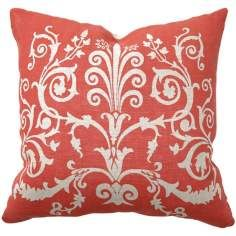 Love this coral red color and the texture of this pillow.