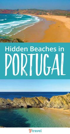 Portugal is know for having beautiful beaches. Many are popular with tourists. Check out these 7 hidden beaches in Portugal to help you escape the crowds. #Europe #Portugal #Beaches