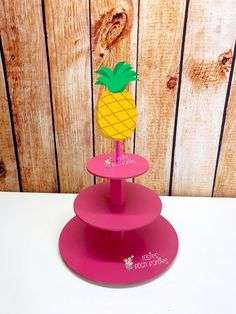 Flamingo Pineapple Cupcake Stand Flamingle Cupcake Stand Birthday Cupcake stand Pink Party Tropical Theme Party Summer Birthday Baby Shower