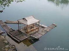 Resultado de imagem para bamboo raft