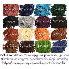 MATTE Moodstruck Minerals Pigment Powders from Younique
