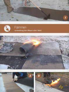 Flämmen und das Aufbringen von Bitumenbahnen haben eins zum Ziel: Das Abdichten! Diese Anleitung zeigt worauf beim Flämmen besonders Acht geben werden muss.