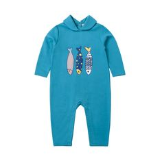 Three Fish Sleepsuit | Happyology Coast Collection SS16