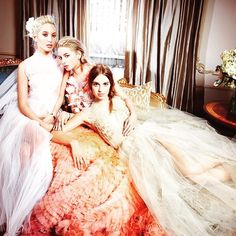 Princess Marie-Olympia of Greece was photographed with her cousins Isabel Getty and Talita Von Furstenberg for the new issue of Vanity Fair.  They are all the daughters of the infamous Miller Sisters and Olympia recently made headlines for 'dating Prince Harry' (it wasn't true). Much more about all of them all on the blog ✨