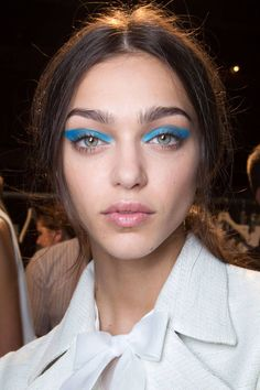 Loved the blue eye shadow looks from SS 2016 NYFW