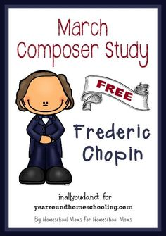 March Composer Unit Study for Frederic Chopin. Perfect for your music class composer unit. Piano Lessons, Lessons For Kids, Music Lessons, Music Lesson Plans, Music Classroom, Music Math, Kindergarten Music, Music School, Piano Teaching