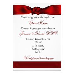 red elegant Corporate party Invitation