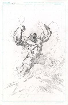 Hulk pencils by KenHunt on DeviantArt Avengers Drawings, Drawing Superheroes, Comic Drawing, Drawing Sketches, Art Drawings, Comic Books Art, Comic Art, Hulk Artwork, Marvel Comics Art