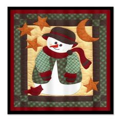 Snowman+Quilt+Look+Shower+Curtain+  Sweet+snowman+shower+curtain+is+a+fun+accent+in+your+bathroom+that+you+can+use+all+winter+long.