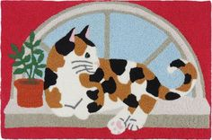 Jellybean Accent Cat Rugs Calico Kitty JB-BL004