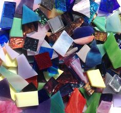 - I can fit 4, one pound bags of scrap into a Priority Mailer ($5.70) - This is a 1 pound mix of stained glass bits and pieces that can include Van Gogh, Youghiogheny, Wissmach, Spectrum, Kokomo and m                                                                                                                                                      More