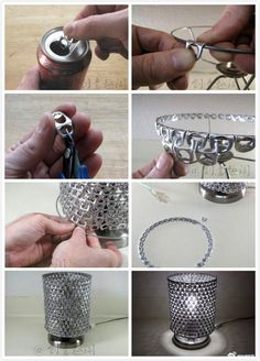 40 Clever and Creative DIY Recycle Lampshades Ideas design DIY interiors Lampshades Recycle 681310249858548949 Soda Tab Crafts, Can Tab Crafts, Aluminum Can Crafts, Metal Crafts, Recycled Crafts, Bottle Crafts, Fun Crafts, Recycled Wood, Tape Crafts