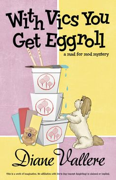 MysteryLoversKitchen.com book #giveaway from author @DianeVallere, WITH VICS YOU GET EGGROLL. Enter on the blog. Plus a delicious egg roll #recipe with pictures!!