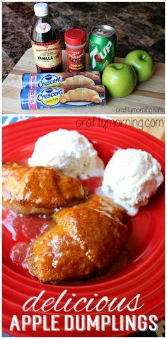 Easy Apple Dumplings Recipe #Fall #Apple dessert/treat! | CraftyMorning.com