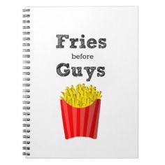 Fries Before Guys Teen Notebook