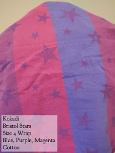 BWI of DC-MD-VA: Kokadi Wrap Bristol Stars Blue/purple/magenta Size 4