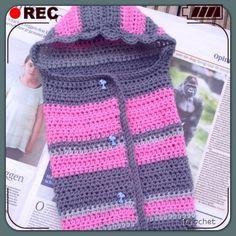 iCrochetstuff: Pinky baby cocoon slaapzak met gratis haak patroon! Crochet pattern!